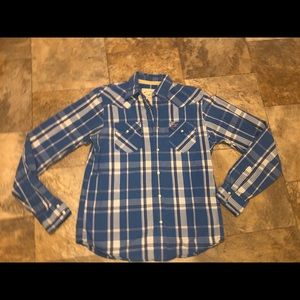 Hollister men's button yo Shirt euc size XL